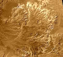 Ancient river delta on Mars