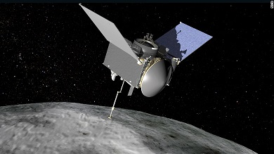 orbiting asteroid Bennu