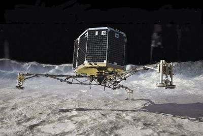 Illustration: Philae landing on 67P by DLR German Aerospace Center