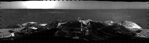 mosaic image from Mars Rover
